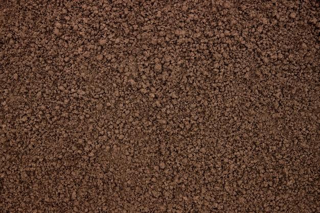 Żyzny Glebowy Tło, Ziemi Nawierzchniowa Tekstura, Odgórny Widok Premium Zdjęcia