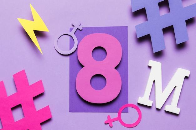 8 de marzo movimiento feminista y día de la mujer Foto gratis