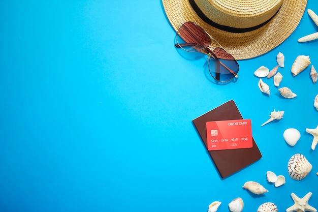 Accesorios de verano vacaciones Foto Premium