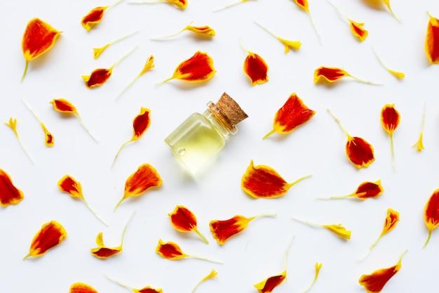 Aceites esenciales de flor de caléndula. Foto Premium