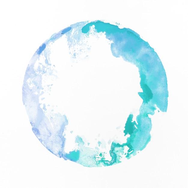 Acuarela staint blue Foto gratis