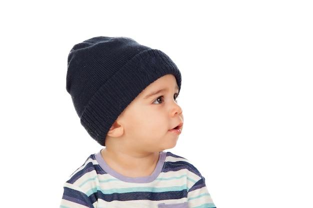 fc65e4af1 Adorable bebé con gorro de lana Foto Premium