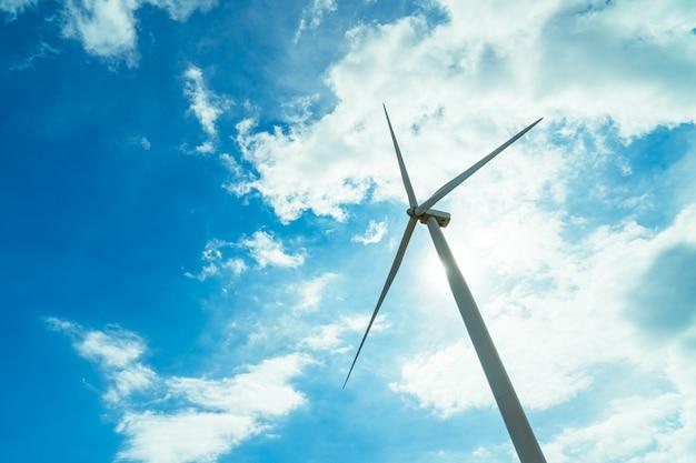 Aerogenerador para generar electricidad Foto Premium