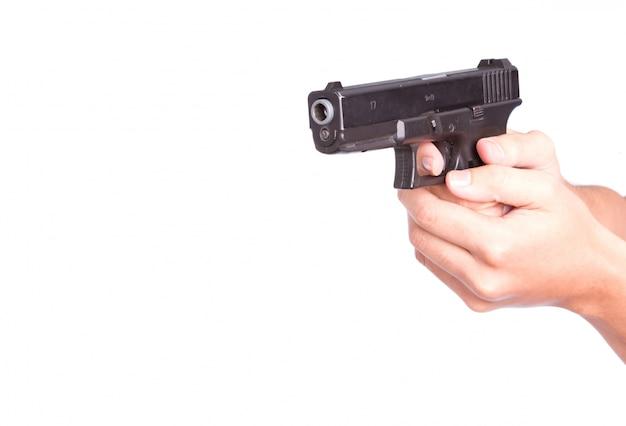Agente de hombre municiones penal empollón Foto gratis