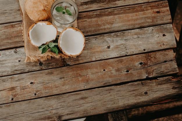 Agua de coco Foto Premium