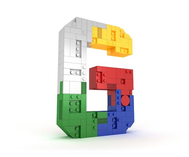 Alfabeto colorido bloque de ladrillo tipo fuente de la