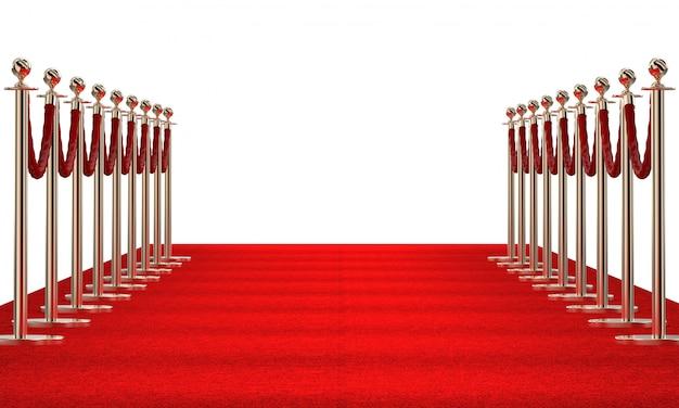 Alfombra roja 3d | Foto Premium
