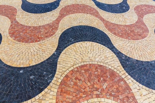 Alicante la explanada de españa mosaico de azulejos de mármol Foto Premium