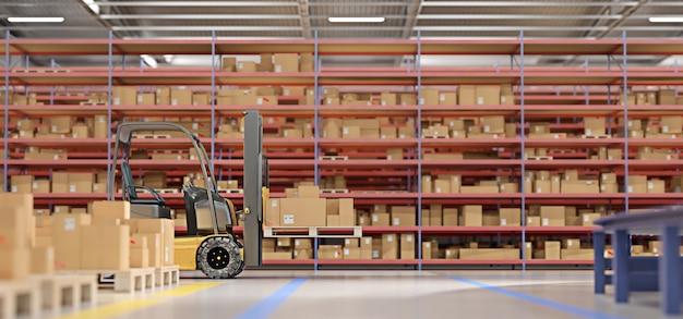 Almacén de mercancías en stock. Foto Premium