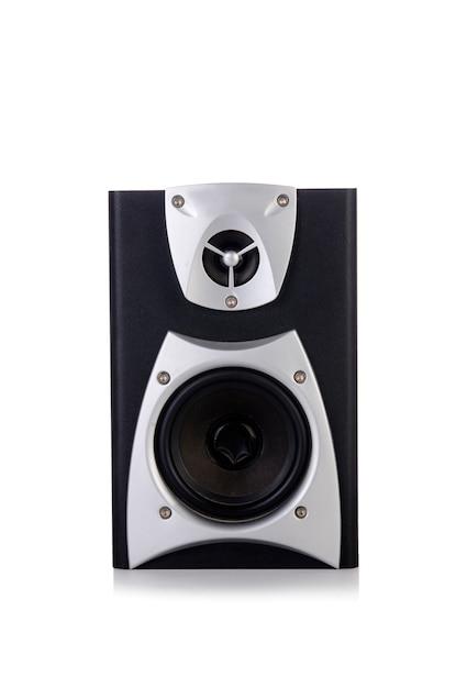 Altavoz de audio de sonido aislado sobre fondo blanco Foto Premium