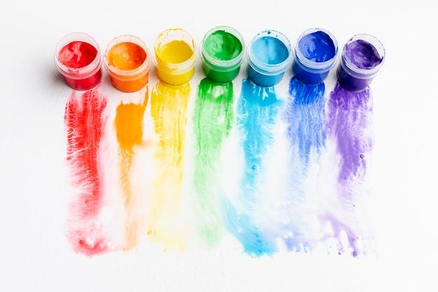Alto ángulo de aquarelle colorido Foto gratis