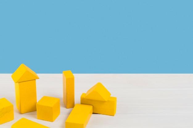 Alto ángulo de coloridos juguetes para bebés Foto Premium