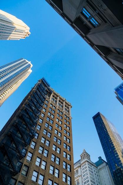 Altos edificios de oficinas en la ciudad Foto gratis