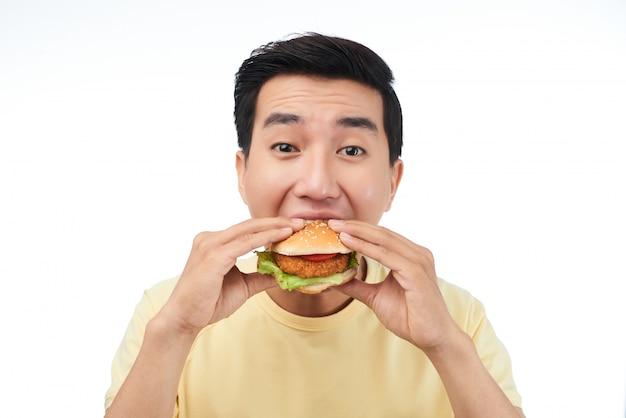 Amante de la comida rápida Foto gratis