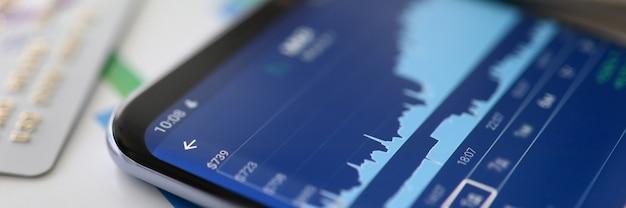 Analítica financiera. gráfico de crecimiento comercial. datos del mercado de valores Foto Premium
