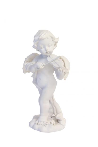 Ángel tocando el violín música amor san valentín aislado Foto Premium