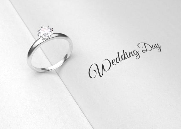 Anillo de bodas en la página del libro representación 3d | Descargar ...