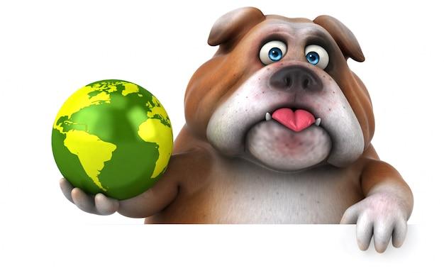 Animación divertida de bulldog | Foto Premium