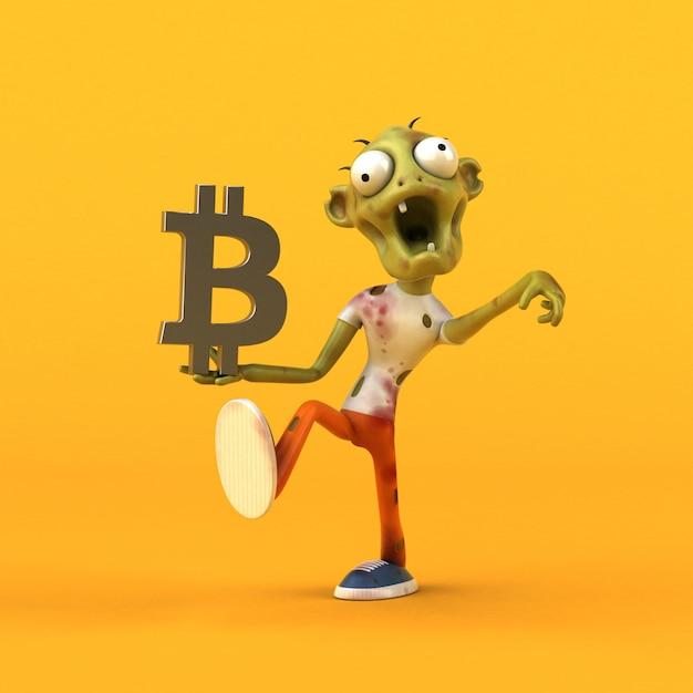 Animación de zombis y bitcoins Foto Premium