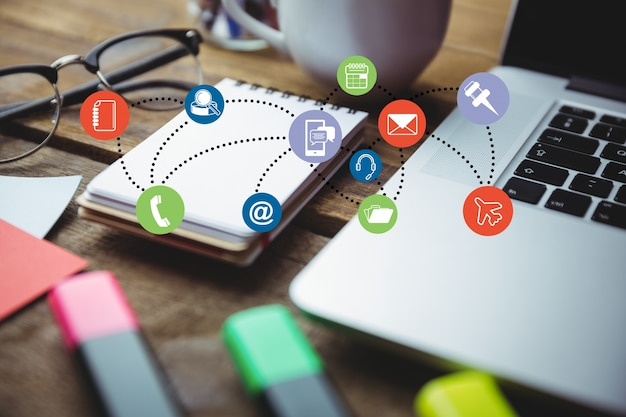 Aplicaciones para estar conectados Foto Gratis