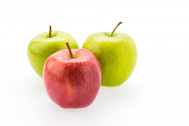 Apple aislado en blanco Foto gratis