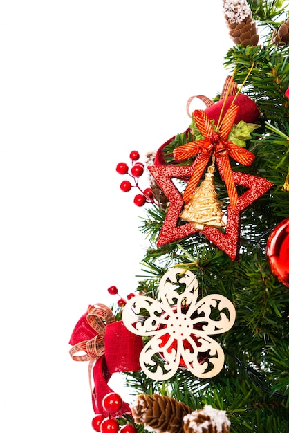 Rbol de navidad aislado en el fondo blanco descargar - Arbol de navidad en blanco ...
