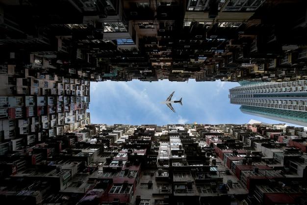 Área de residencias de la ciudad de hong kong Foto Premium