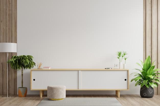 Armarios y pared para tv en salón, Foto gratis