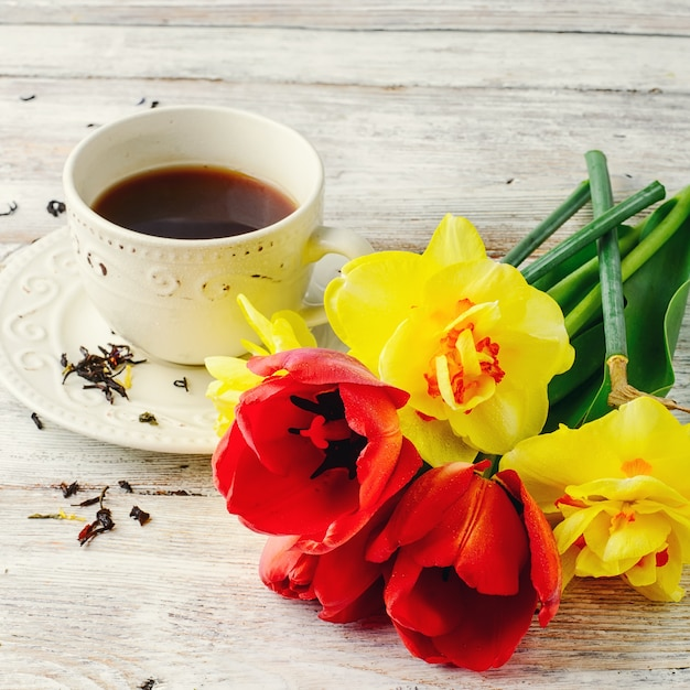 Aroma de té de la mañana Foto Premium
