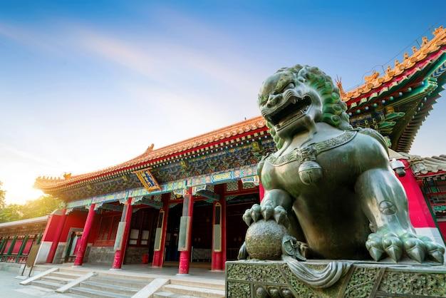 Arquitectura clásica en beijing, china Foto Premium