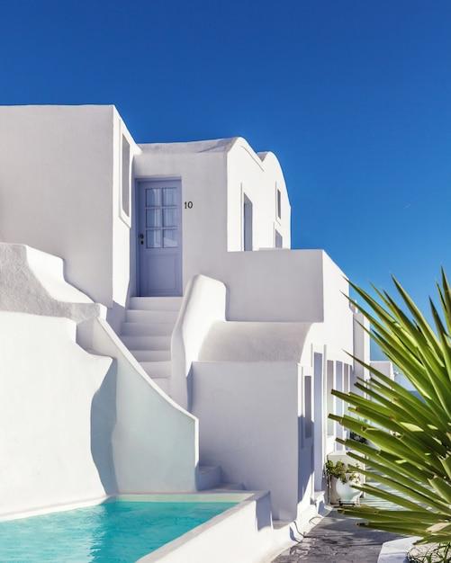 Arquitectura de la tradición en santorini, grecia. Foto Premium