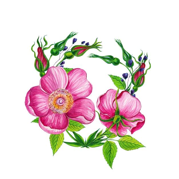 Arreglos Florales Con Flores Rosas Salvajes Descargar