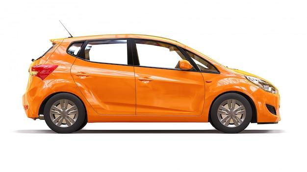 Auto naranja con superficie brillante Foto Premium