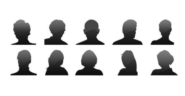Avatar de iconos silueta psd