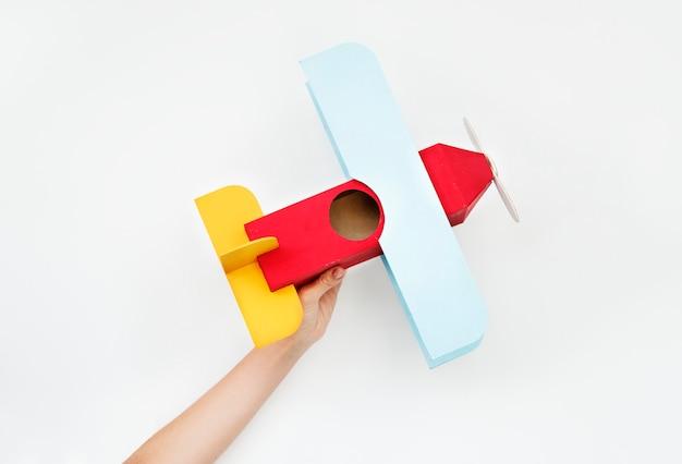 Avión de papel artesanal Foto Premium