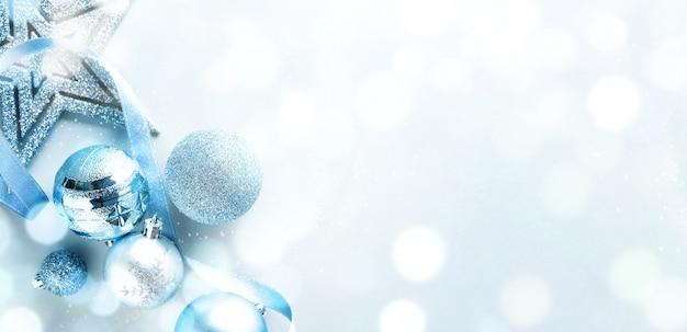 Azul navidad lay flat Foto gratis
