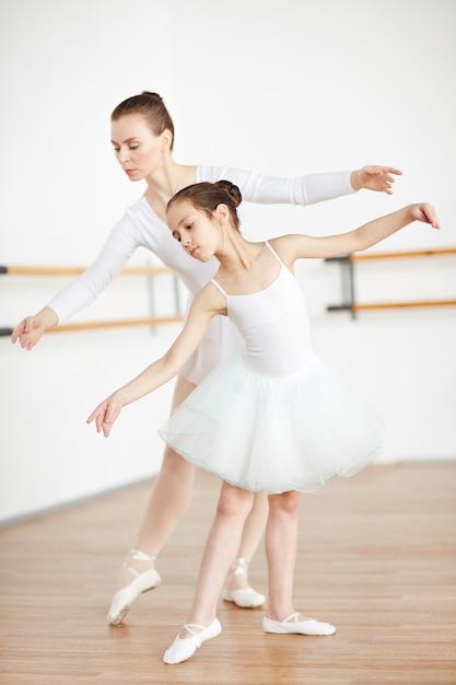 Bailando con maestro Foto gratis