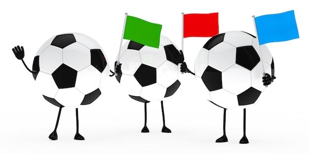 Balones de fútbol con banderas de colores | Descargar Fotos gratis