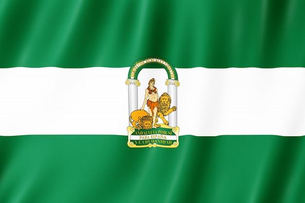 Bandera de andalucía. Foto Premium