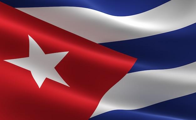 Bandera De Cuba. Ilustración De La Bandera Cubana