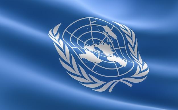Bandera De Las Naciones Unidas. Ilustración De La Bandera