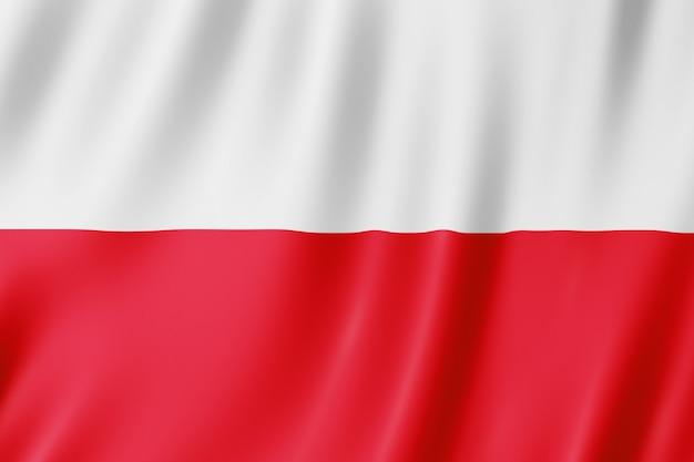 Bandera De Polonia. Ilustración De La Bandera Polaca