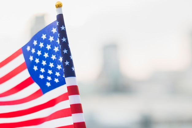 Bandera de estados unidos para el día de la independencia Foto gratis
