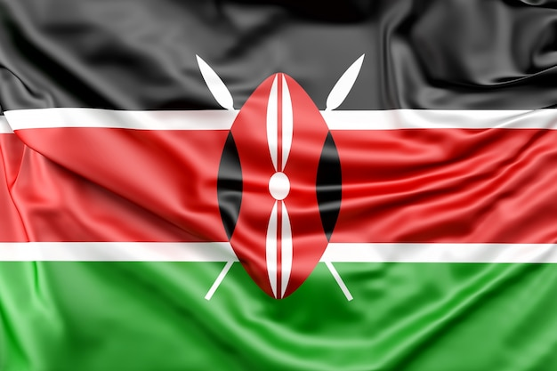Bandera de kenia Foto gratis