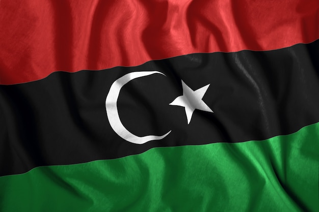 Bandera libia Foto Premium