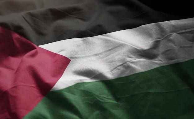 Bandera de palestina arrugada de cerca Foto Premium