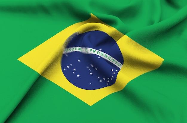Bandera de tela de brasil Foto Premium