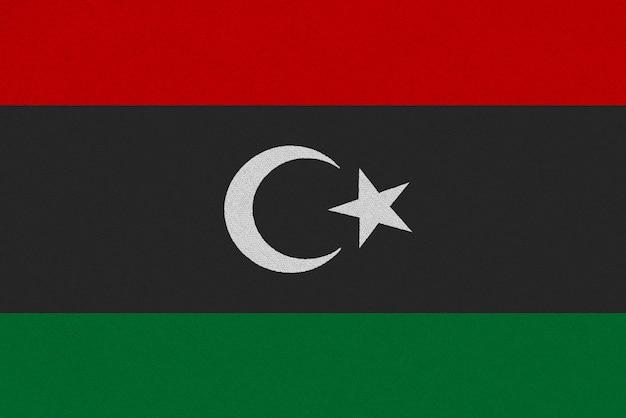 Bandera de tela de libia Foto Premium