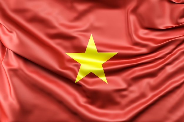 Bandera de vietnam Foto gratis
