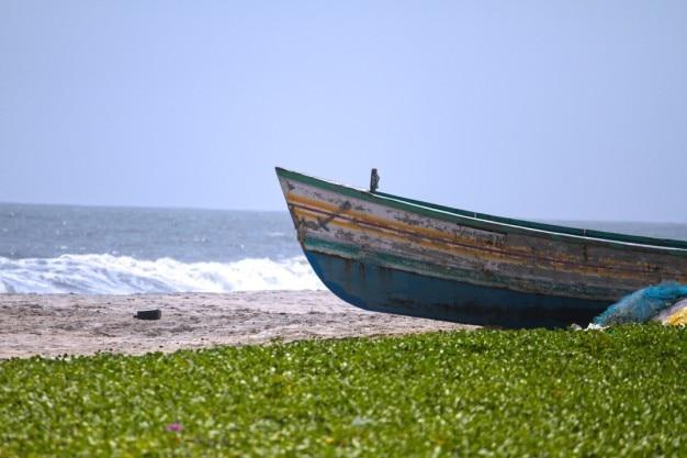 Te Quiero Arena De Playa A Orillas Del Mar Fotos De: Barco Viejo En Orilla De La Playa